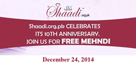 10th Anniversary Celebration of Shaadi.Org.Pk - DEC 24th 2014